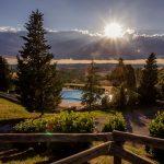 Ausblick auf Pool Pieve a Salti