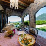 Ferienhaus Fragolotta vordere Terrasse